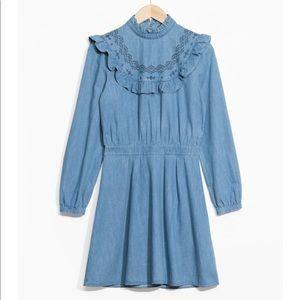 & other stories denim dress